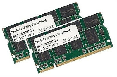 2x 1GB 2GB Samsung Speicher DDR 333 Mhz SODIMM PC2700 RAM SODIMM Notebook 200pin ()