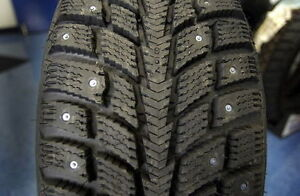 4 SUNNY WINTERGRIP STUDED 185 65 14 WINTER TIRES 90% LEFT  NEW