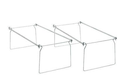 2 Pack Office Depot Brand Hanging Folder Frame Letter 2pk Steel Gray