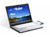Dual Core Fujitsu S7220 Laptop. 2.6GHZ, 4GB, 160GB, Win 10. 12 Months Warranty