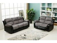 STYLISH😘 RECLYNER FABRIC/LEATHER 3+2 SOFA SET AS WE LL--FREE DELIVERY