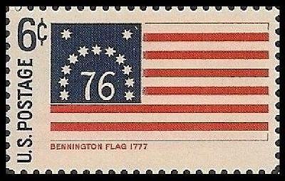 US 1348 HISTORIC FLAGS BENNINGTON FLAG 1777 6C SINGLE MNH 1968
