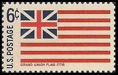 US 1352 HISTORIC FLAGS GRAND UNION FLAG 1776 6C SINGLE MNH 1968