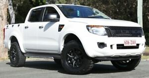 2014 Ford Ranger PX XL Double Cab 4x2 Hi-Rider White 6 Speed Sports Automatic Cab Chassis Southport Gold Coast City Preview