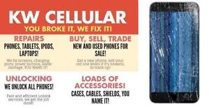 KW CELLULAR.CELL PHONE ,IPOD,TABLET REPAIR AND UNLOCKING