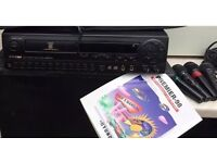 Hyundai karaoke disc player with four microphones and disc