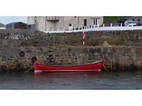 25ft oak on oak shipyard built clinker boat.