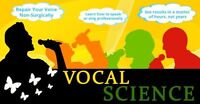Vocal Science: Professional Singing Lessons & Voice Repair.