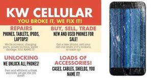 KW CELLULAR,CELL PHONE.IPOD,TABLET REPAIR AND UNLOCKING