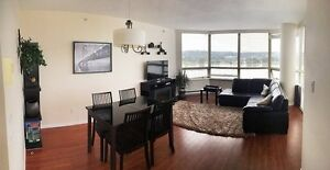 Waterfront, Bright + Spacious 2 BR 2 Bath steps to skytrain