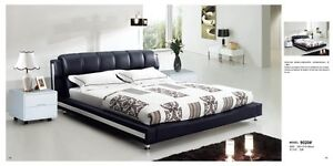 Modern Leather Queen Size Bed (Q9020)