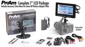 NR-ProAm-7-On-Camera-Crane-LCD-Video-Monitor-Kit-Canon-BP-Battery-Adapter