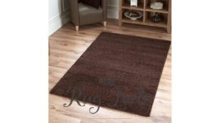 NEW!!!! Shaggy Floor Rug Dark Brown
