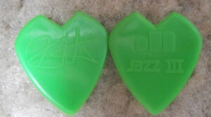 KIRK-HAMMETT-METALLICA-GUITAR-PICK-GREEN-HEART-SHAPED