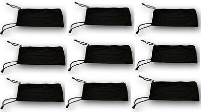 250 pcs Sunglasses Case Soft Pouch Black Eyeglasses Phone Jewelry Bag Gift Party