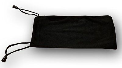 QTY 20 Cheap Bulk Lot Black Micro Fiber Sunglasses Carrying Pouch Dual String