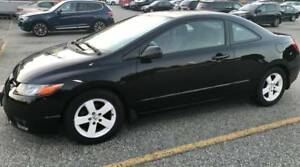 Black 2007 Honda Civic EX