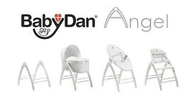 BabyDan Angel 3 in 1 Crib, High Chair & Recliner - suitable from birth