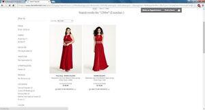 Bridesmaid dress red david's bridal style 1298