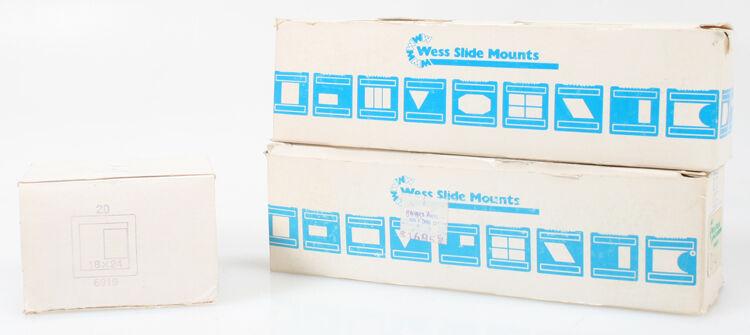 GLASSLESS SLIDE MOUNTS 3 MIXED BOXES