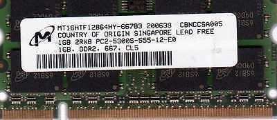 1gb Apple Macbook Pro 1.83ghz 15 / 2.0ghz 15 Ddr2 Laptop/notebook Ram Memory
