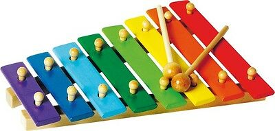 """Xylophon, bunt, """"8 Noten"""" Einstiegsinstrument für Kinder ab 3 Jahren NEU OVP"""