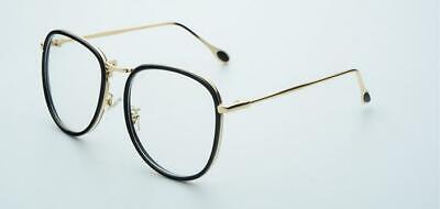 Jahrgang Retro Damen Brillengestelle Metall Kunststoff Übergroß Brille Mode Rx
