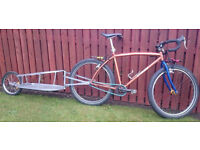 Easy Real Touring Bike - Single Speed with Trailer