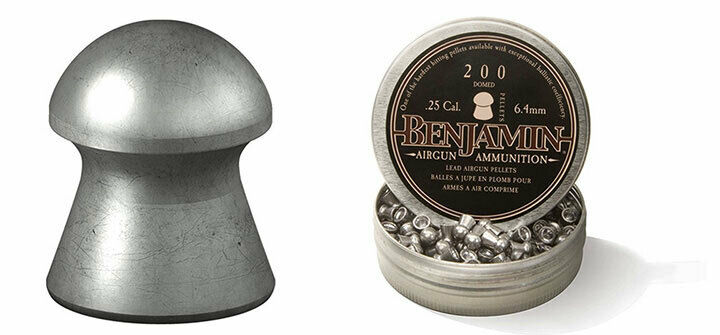 Benjamin BD255 Domed Pellet .25 Caliber 27.9 Grain 200 Count