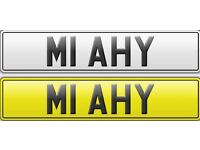 DVLA issue Prestigious Private Number Plate M1 AHY