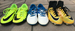 Nike and Adidas Junior Soccer Cleats