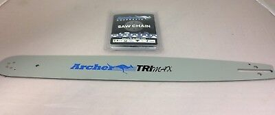 """20"""" Guide Bar 3/8-050-72DL Husqvarna 55 257 350 357 359 455 Rancher WITH CHAIN!"""
