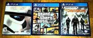 Jeux de PS4 comme neufs!!