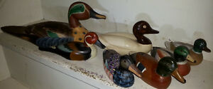 Vintage DUCK DUCKS DECOY FIGURE COLLECTION LOT OF