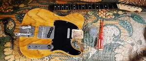 Awesome Franken Tele all high quality parts Ash body guitar