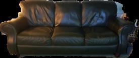 Green Leather Sofa