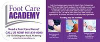Basic, Advanced & Diabetic Nursing Foot Care Course Available