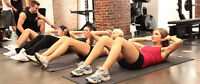 Group training with professional personal trainers