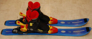 Kids downhill skies and boots for sale