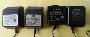 LOT OF 4 CLASS 2 TRANSFORMER CHARGER ADAPTER VARIOUS MANFACTURER