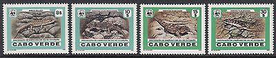 MAMMALS: 1986 CAPE VERDE IS -WWF -Reptiles set SG566-9 MNH
