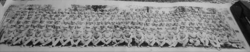 Vintage 1945 WWII Photo-Replacement Training Co-126A-Infantry Solders-Named