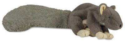 HuggleHounds Plush Durable Squeaky Big Feller Squirrel Dog T