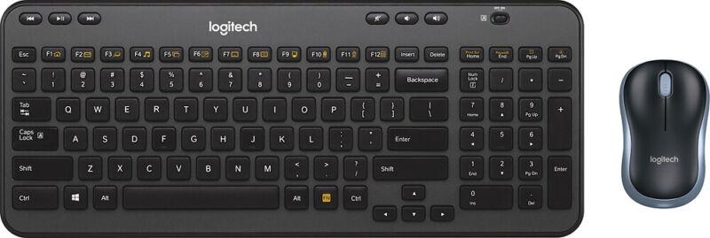 Logitech - MK360 Wireless Keyboard and Mouse - Black