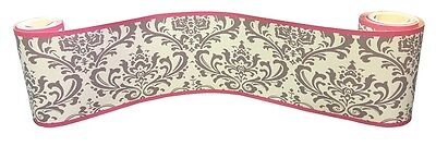 (Wall Border For Grey Damask Baby Bedding Set By Sisi)