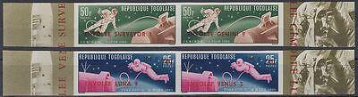 Togo 1966 ** Mi.513/16 Ba Weltraum Space Espace LUNA 9 VENUS 3