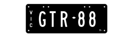 VIC Number Plates - GTR 88