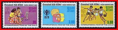 SRI LANKA 1979 INT'L YEAR of CHILD SC#553-55 MNH SPORTS (D02)