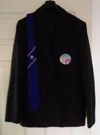"""Oldmachar Academy Boy's Blazer Size 35"""" Chest and S6 Tie"""