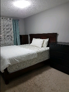 Furnished room in new home in south edmonton